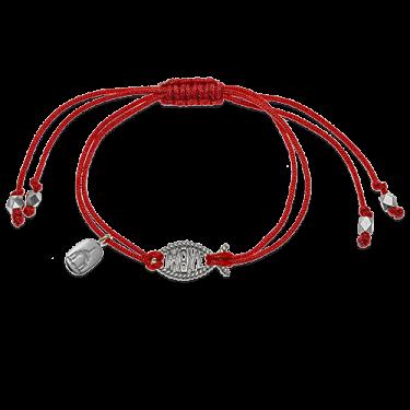 Браслет на верёвочке «Ихтис» серебро