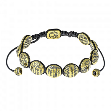 Православный браслет «10 заповедей» серебро/золочение