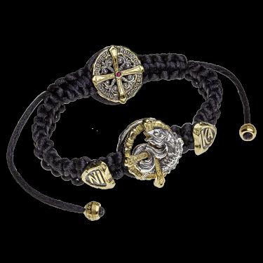 Православный браслет «Апостольский» серебро/золочение