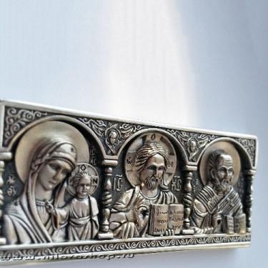 Дорожная икона бронза/серебрение