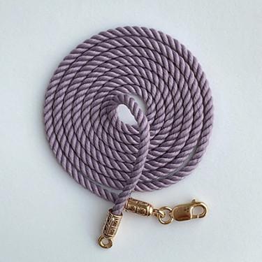 Шнурок на шею для детей и взрослых серебро/золочение фиолетовый