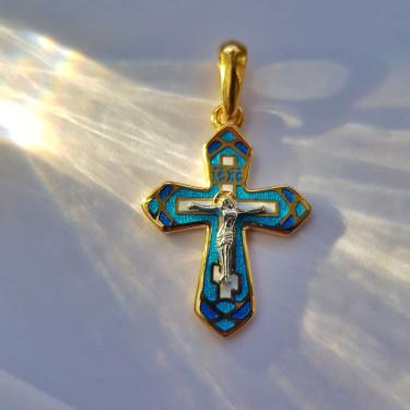 Крестик с эмалью модель «К 07»