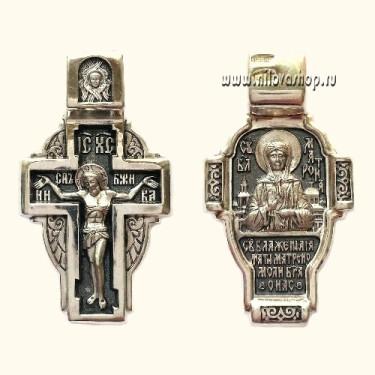 Крест нательный «святая Матрона» (поясная) КР27 серебро