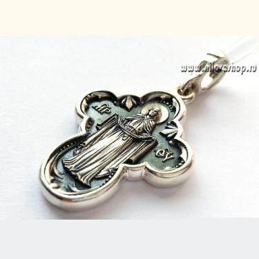 Крест нательный «Покров Божией Матери» КР29 серебро