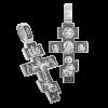Мужской крест со св. Спиридоном и Казанской иконой серебро