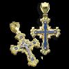 Нательный крест К114 серебро/золочение/эмаль