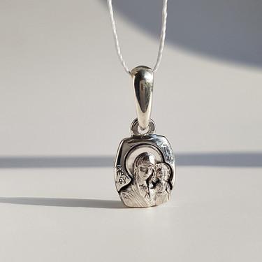 Иконка Божьей Матери «Казанская» ПД84 серебро