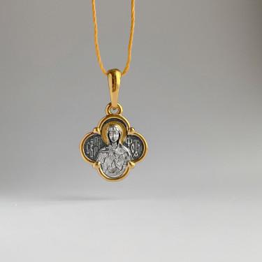 Образок «Святая Светлана (Фотиния)» малая серебро/золочение