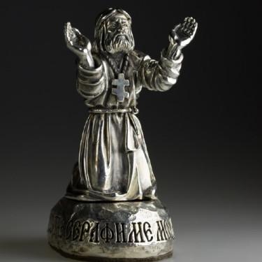 Статуэтка святого Серафима «молитва на камне»