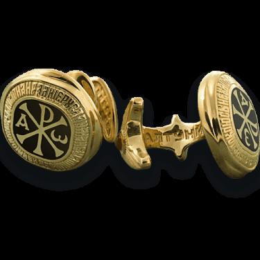 Православные запонки «Хризма» ЗП02
